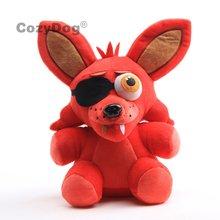 25cm New Arrival pięć nocy w Freddy's 4 FNAF pluszowe zabawki słodkie czerwone Foxy pluszowe zabawki pluszowe kobiety dzieci prezent urodzinowy