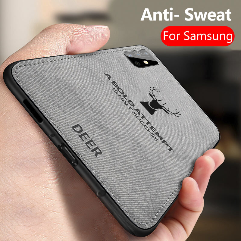 For <font><b>Samsung</b></font> <font><b>Galaxy</b></font> A51 2020 Cloth Fabric Deer Phone Case For <font><b>Samsung</b></font> <font><b>galaxy</b></font> A51 A 51 A515F back couqe cover <font><b>a50</b></font> 2019 A 50 <font><b>A505F</b></font> image