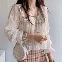 S xl для девочек Весенняя блузка большого размера Женская белая