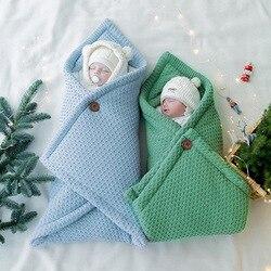 Baby Blanket Infant Cotton Envelop Swaddle Blanket For Newborn Baby Hooded Sleepsack Parisarc Bedding Blankets baby stuff