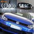 Отличные ультра яркие CCFL ангельские глазки Halo кольца комплект автомобильные аксессуары для Volkswagen VW Polo CrossPolo Vento