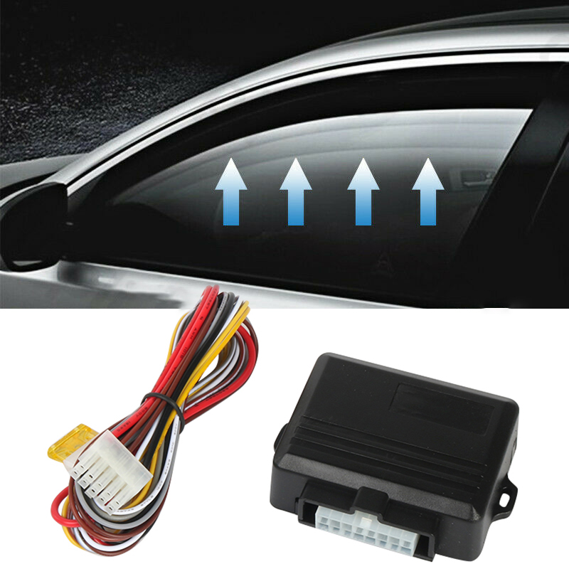 Universal Black Car Power Window Roll Up Closer For Four Doors Remotely Close Windows