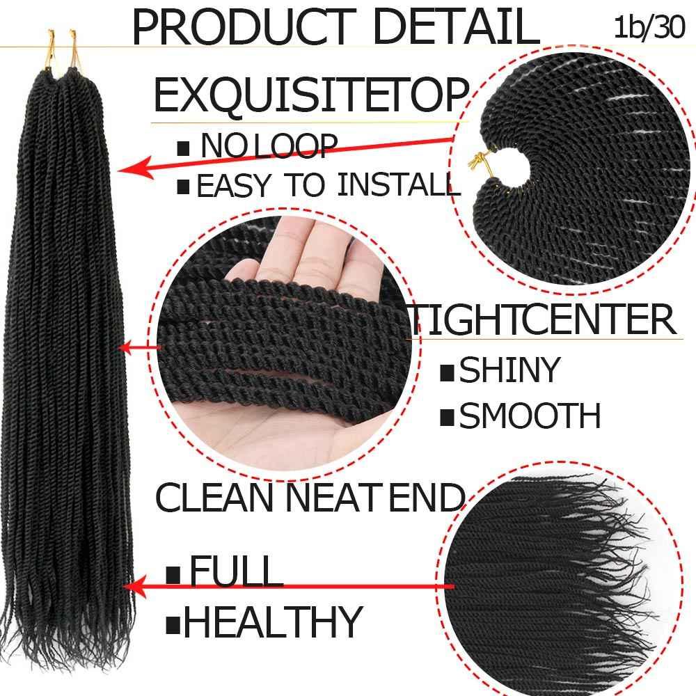 Aiyee18 ''Гавана Мамбо твист крючком косичка волос Синтетический Омбре коричневый Сенегальский твист вязание крючком Твист косичка 30 прядей за штуку