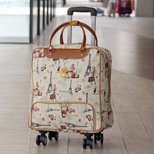Rolling-Suitcase Trolley Luggage Travel-Bag Wheels Waterproof with Suplies Thick-Style