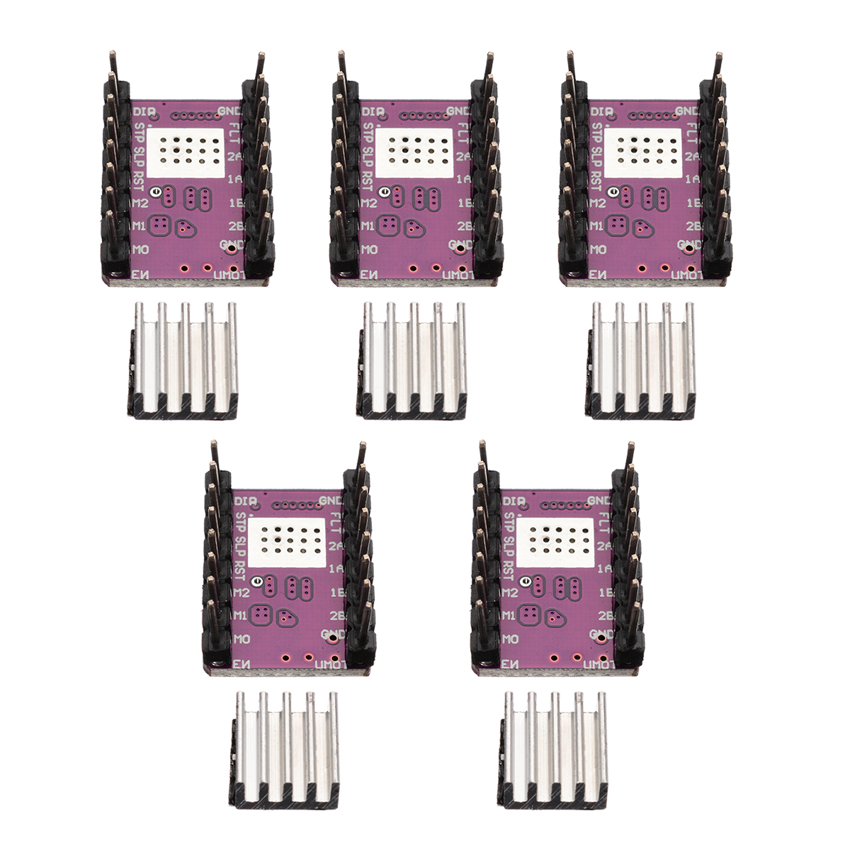5 Sets Stepper <font><b>Motor</b></font> <font><b>Driver</b></font> Module DRV8825 Stepper <font><b>Motor</b></font> <font><b>Driver</b></font> Module Built-in Regulator StepStick 45V For 3D Printer Parts image