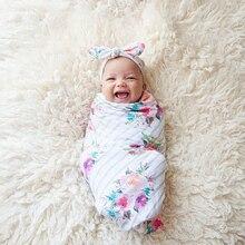 Аксессуары для детского постельного белья, спальный мешок, муслиновое Пеленальное Одеяло с цветочным принтом, набор пеленок для новорожденных, одежда для маленьких девочек и мальчиков