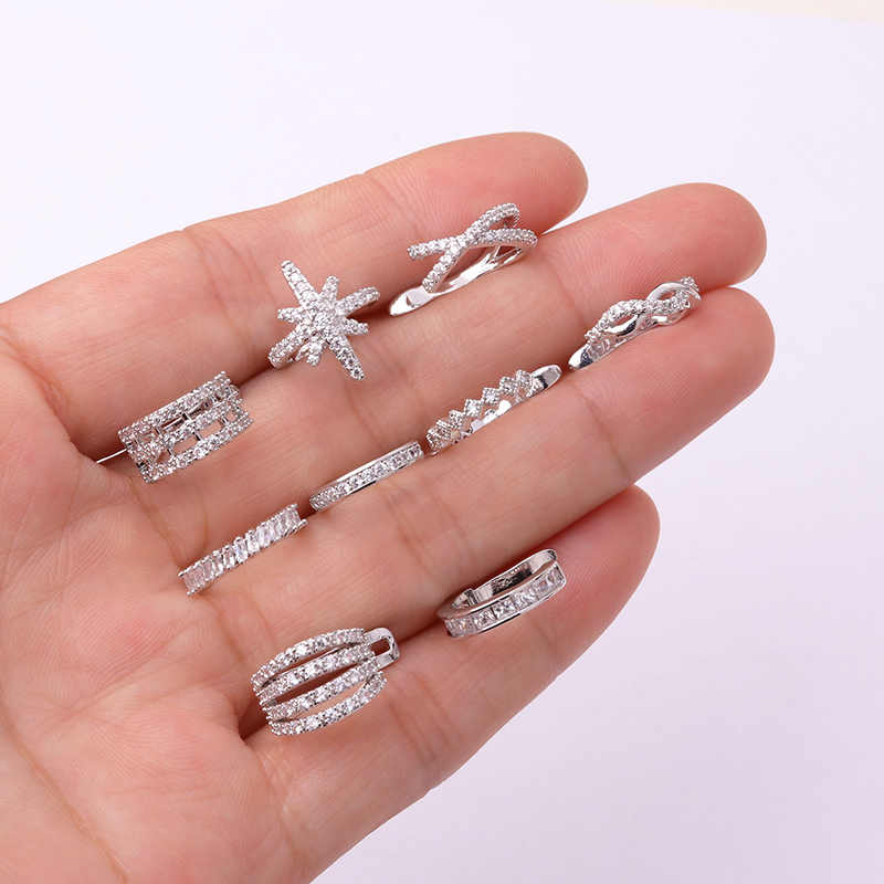 Sellsets 1piece New Arrival Adjustable CZ Ear Cuff No Piercing Earring Zircon Non Piercing Conch Tragus Helix Piercing Jewelry