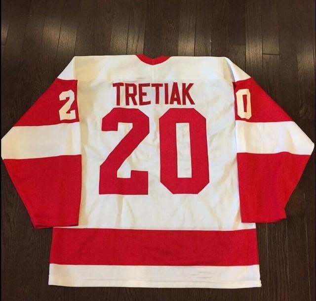 Mens #20 Vladislav Tretiak 1980 CCCP Russia Ice Hockey Jerseys Stitched