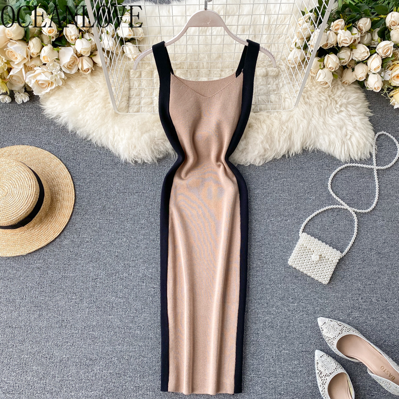Сексуальное платье с v-образным вырезом, весна-лето 2020, сексуальные платья с v-образным вырезом и высокой талией, модные платья средней длины ...