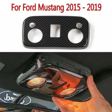 Car Roof Reading Lamp Light Cover Trim For Ford Mustang 2015 - 2019 Carbon Fiber new and high quality(China)