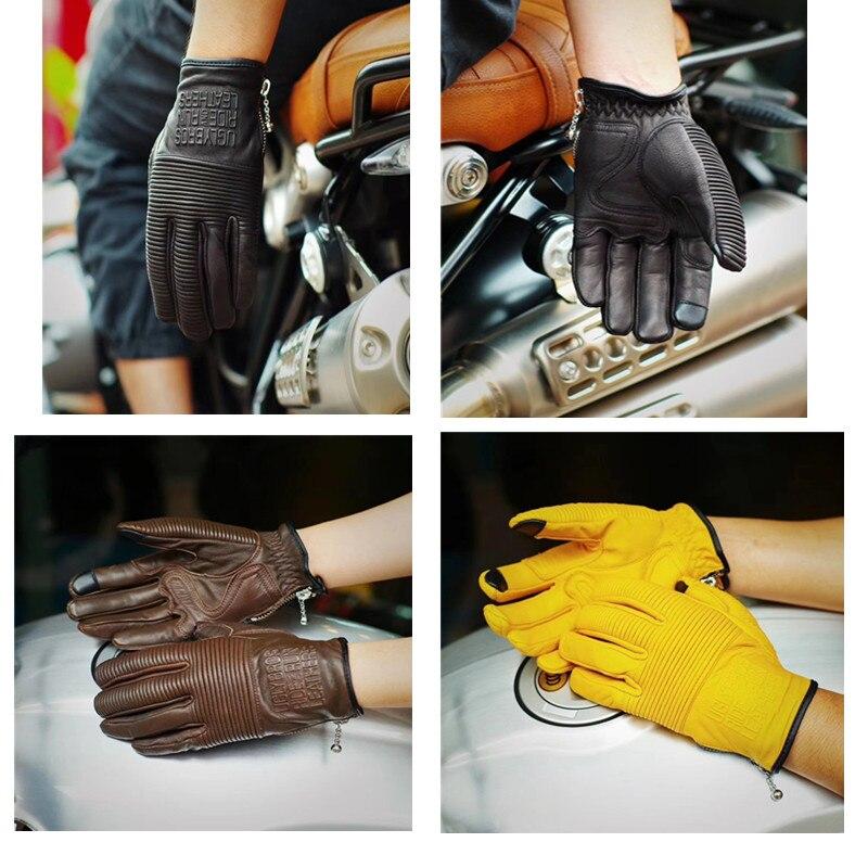 Retro moto rcycle rękawice oryginalne skórzane rękawiczki guantes moto Unisex rękawice motocyklowe rozmiar S-2XL rękawice moto rcycle Touch screen