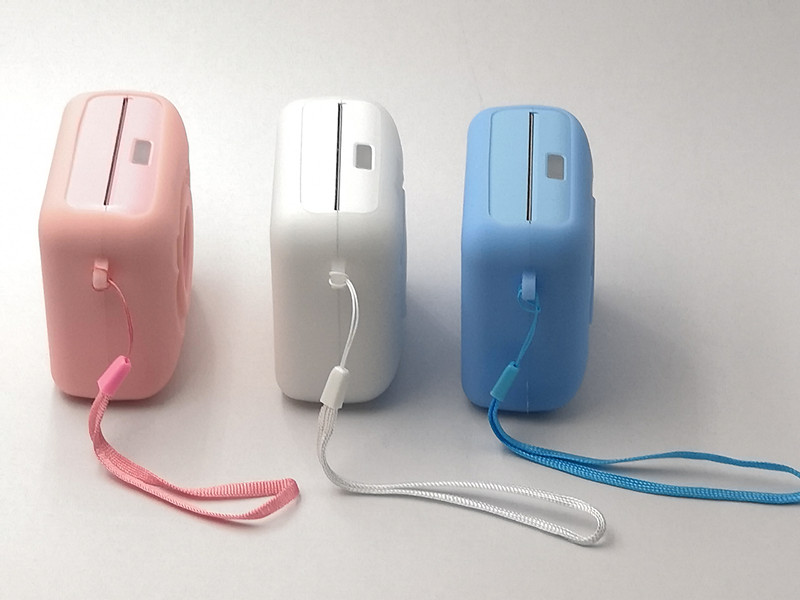 A6 pocket thermal inkless photo printer with soft silicone case (7)_副本