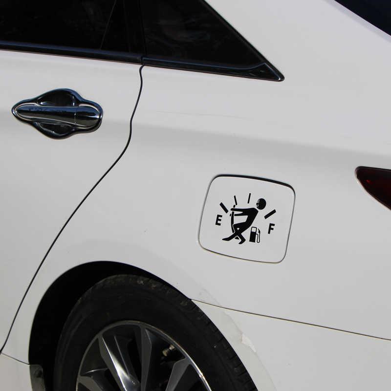 KOSOO شحن مجاني مضحك عالية استهلاك الغاز ملصقات السيارات الوقود غيج ملصق حائط من الفينيل فارغة اكسسوارات السيارات التصميم 12.7*9.2 سنتيمتر