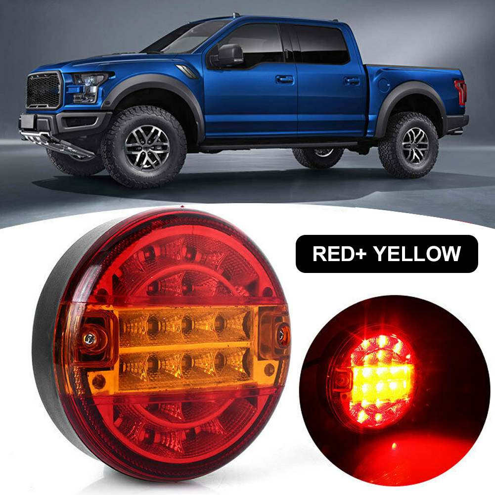NEW 20 LEDs Car Door Opening Warning Lights Wireless Magnetic Design Strobe Flashing Anti Rear-end Collision Safety Lamps Round