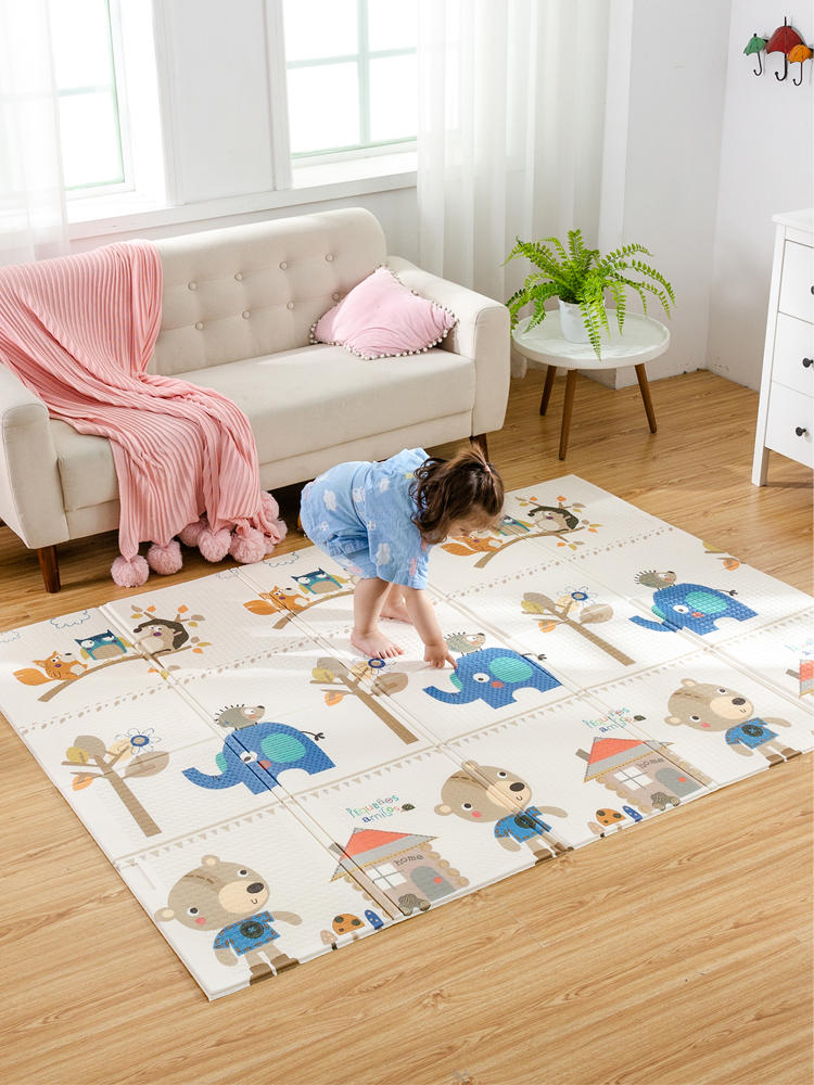 Baby Mat Game-Blanket Play-Mat Foam-Pad Foldable XPE Infant Shining 1CM 150x200x1cm Parlor
