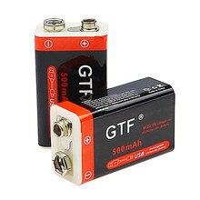 Novo 9 v 500mah li-ion bateria recarregável micro usb baterias de lítio 9 v para multímetro microfone brinquedo controle remoto ktv uso