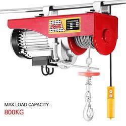 800Kg 220V 1450W Mini Electric Hoist Crane Remote Control Auto Mengangkat Alat Garasi Winch Tugas Berat Derek alat Uni Eropa Plug