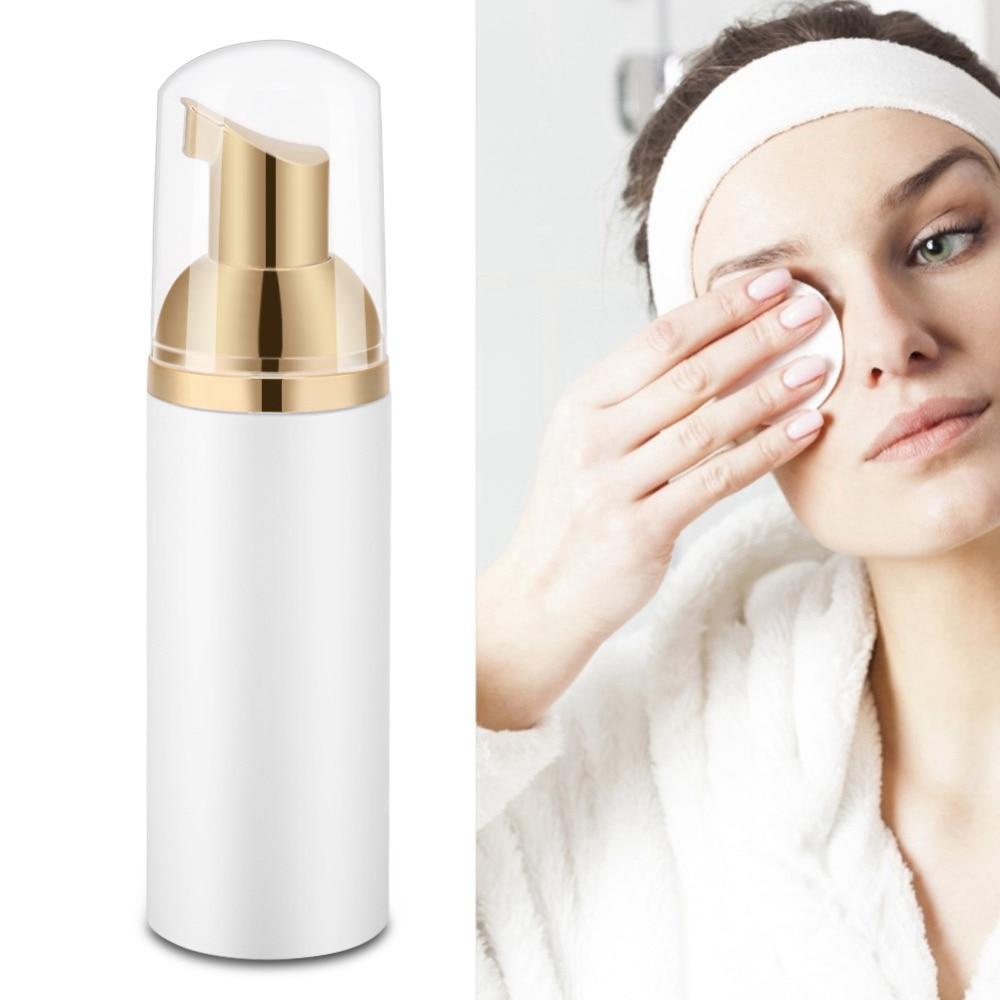 Shampoo Eyelashes Foam Cleaner Women Eyelash Extension Foaming Professional Cleaner Transparent Bottle Cleaning Eyelash 60ml