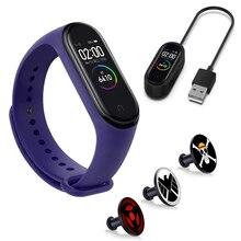 Для Mi Band 4/3 силиконовый ремешок Для Xiaomi Miband 4 Не исчезнет Металлическая кнопка браслет аксессуаров Miband 4 Зарядный кабель