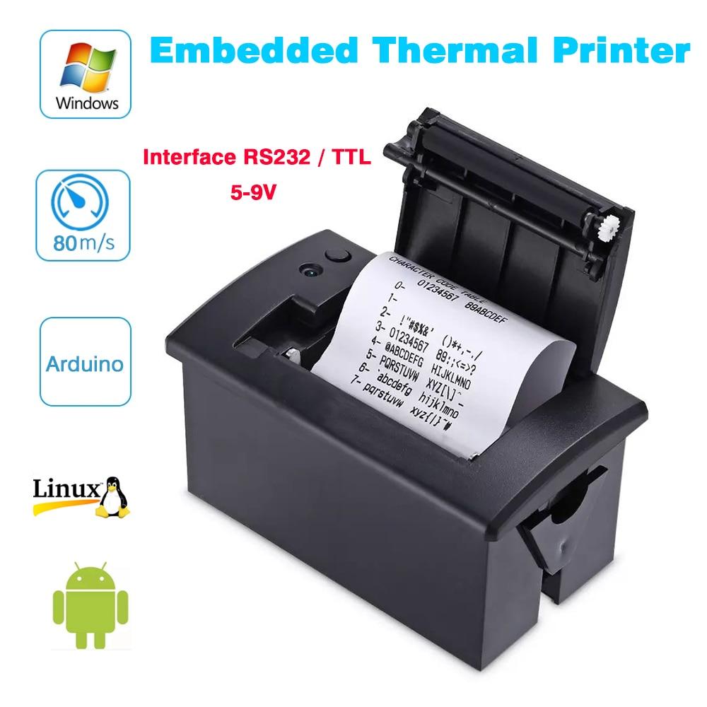 Mini impresora térmica de 58mm, impresora de recibos POS integrada con interfaz RS232/TTL, uso con 5 v-9 v para arduino android Placa de control de acceso EMID 125KHZ RFID integrado Tablero de control DC12V Tablero de control normalmente cerrado