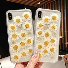 Fashion Daisy Real Flower Case for Vivo X9 X9S V5 Plus X20 X21 X21 UD X23 X23H Floral Soft Silicone Protect Cover Phone Cases(China)