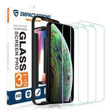 [3 パック] Impactstrong 9H 高精細強化ガラススクリーンプロテクター iphone 6 6s 7 8 x xs xr 100% 画面カバレッジ