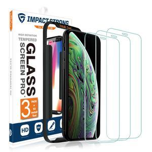 Image 1 - [3 pack] Impactstrong 9H protecteur décran en verre trempé haute définition pour iphone 6 6s 7 8 x xs xr 100% couverture décran