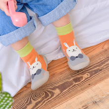 Winter Baby Shoes Floor-Socks Non-Slip Toddler Soft-Rubber Booties Cartoon Thick