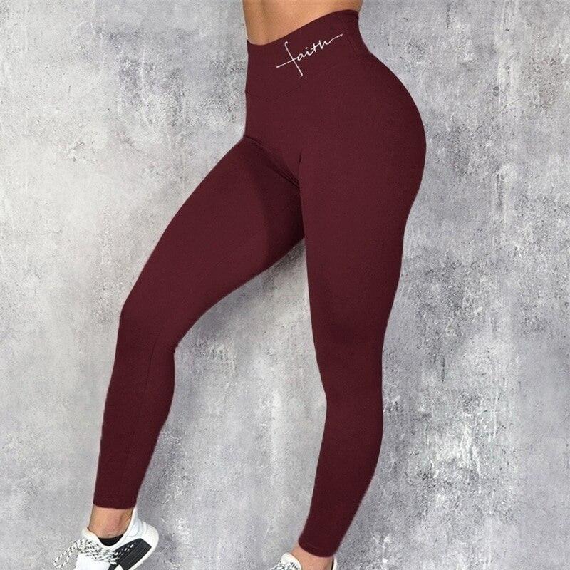 yoga carta imprimir calças esportivas leggings de