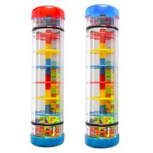 Радужные песочные часы, дождевик, дождевик, музыкальная игрушка, дождевик, звук для детей, дождевик, обучающая детская игрушка, забавная игр...