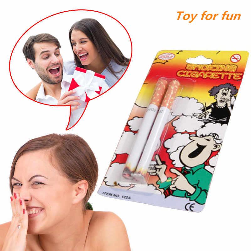New Joke Prank Magic Novelty Trick Smoking Cigarette Burining Prank Jokes For Funny April Fool's Day Kids Practical Joke