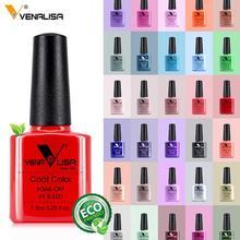 Venalisa 7.5ml unha gel polonês 60 cores frete grátis superior vender para unha arte manicure topo casaco embeber esmalte uv gel verniz
