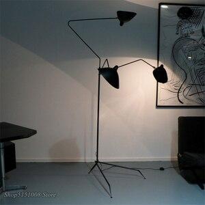 Image 5 - 北欧夜明けクモセルジュムーユフロアランプモデリング寝室産業立ちランプシンプルなリビングルーム led フロアライト器具