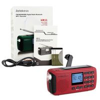 RETEKESS HR11S Portable Radio Bluetooth speaker Solar Emergency Radio Receiver FM MW SW With MP3 Player Digital Recorder