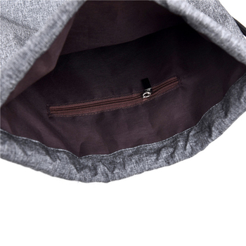 Women Men Drawstring Bags Women Canvas Backpack Beach Bag Outdoor Fitness Sport Bag Bundle Pocket Travel Softback Women Mochila 6