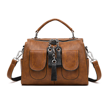 2019 New Vintage Multi-pocket Satchel Handbag For Women Female Designer Luxury Leather Multifunction Shoulder Bag Bolso Mujer