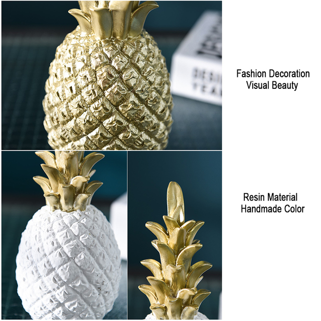 Nordic Resin Gold Pineapple Modern Home Decoration For Living Room Cabinet Window Desktop Party Wedding Home Ramadan Decoration 5