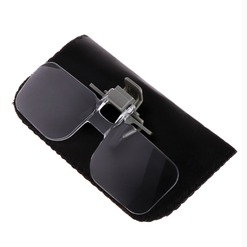 2X Glasses Style Magnifier Magnifying Glass With Clip For Reading