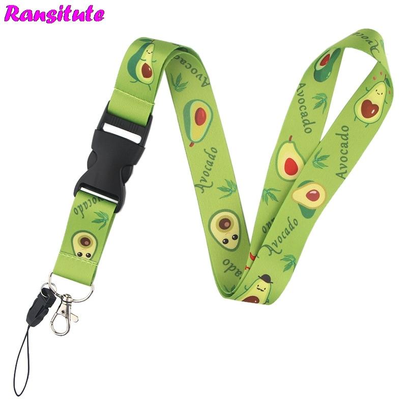 Ransitute I Love Avocado Lanyard Neckband Key ID Card Mobile Phone Strap / DIY Mobile Phone Belt Badge Holder R544