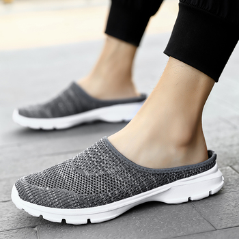Women Sandals Summer Shoes Flats Half Slippers Canvas Shoes Fashion Sneakers Shoes Loafers Woman Flats Sandals Mule Shoes Size48 2020 summer cool rhinestones slippers for male gold black loafers half slippers anti slip men casual shoes flats slippers wolf