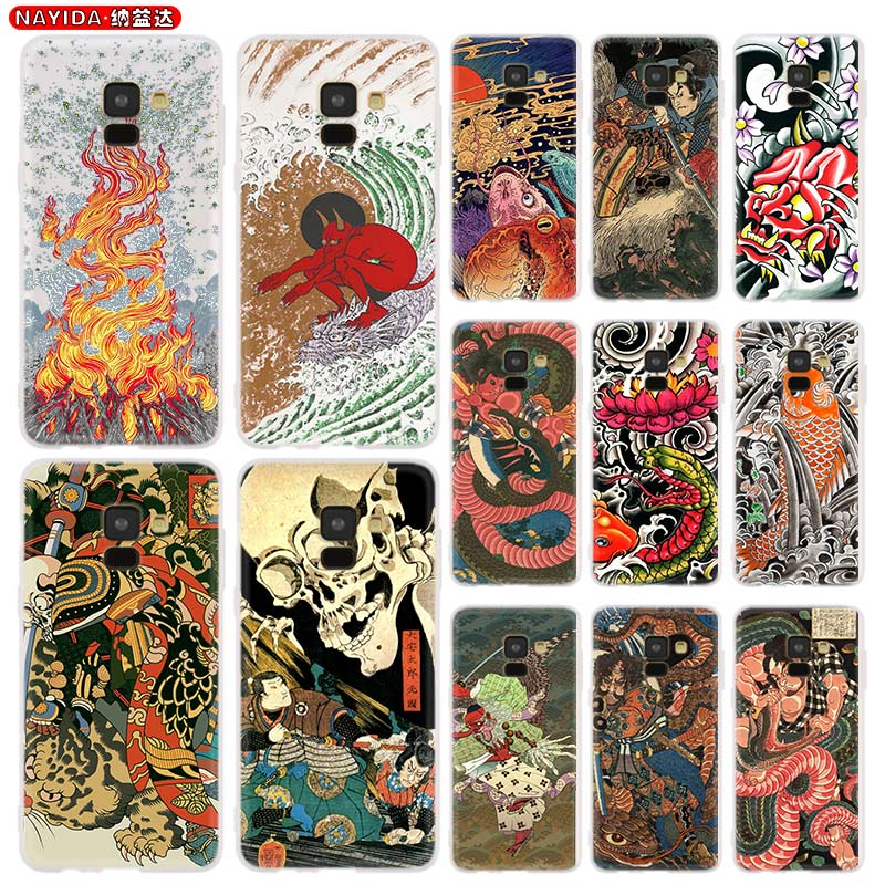 Phone Case For Samsung A8 A6 Plus 2018 2017 2016 A10 A30 A40 A50 A60 A70 A80 A90 A9 A7 A5 Star Japanese style Art image