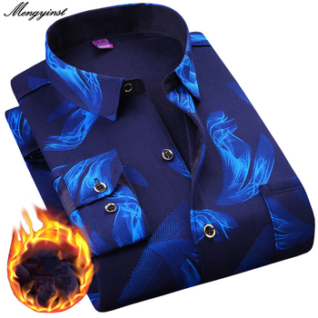 2021 Winter Mens Fashion Warm Long Sleeve Plaid Shirt Thick Fleece Lined Soft Casual Flannel Warm Dress Shirt Plus Size 5XL 6XL