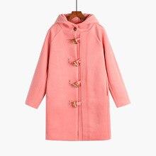 Autumn Winter Fashion Thicken Woolen Coat Mid-Long New Korean Temperament Women Popular Outerwear