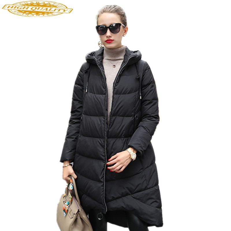2020 New Women's Down Jackets Hooded Long Loose Winter Warm Coat Female Jacket For Women Jaqueta Feminina Inverno WYQ806
