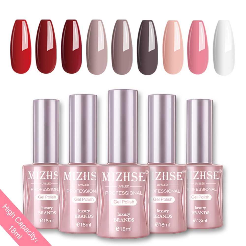 Mizhse Nail Gel Varnish 18 Ml Soak Off Uv Led Nail Gel Pure Kleur Verf Gel Enamal Voor Manicure Mode nail Art Design