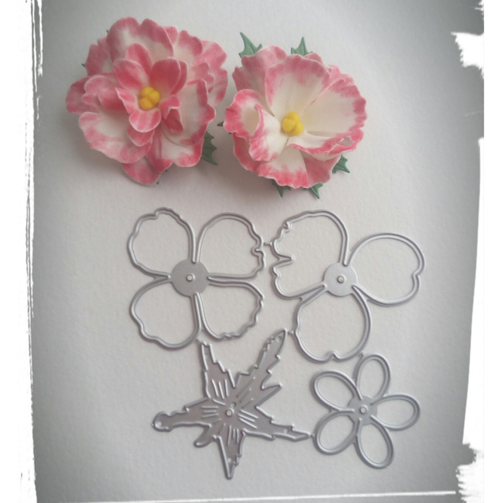 Beautiful Fresh Flower Decoration Metal Cutting Die Clipbook Paper Knife Die Stamping Die New Flower Mould