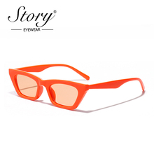 Story Vintage Orange Cat Eye Sunglasses