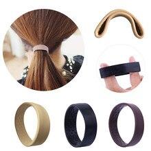 Faixa de cabelo para rabo de cavalo, correia de silicone dobrável, elástica, para mulheres e meninas, suporte de rabo de cavalo, elástico
