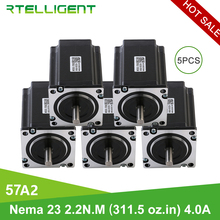 Nema 23 Shaft Stepper Motor Milling-Machine Engraving Rtelligent 5PCS 8mm for CNC 57--57