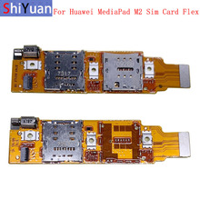 Sim Card Reader Holder Pins Tray Slot Part With Motor For Huawei MediaPad M2 7.0 8.0 10.0 Flex Cable Replacement Repair